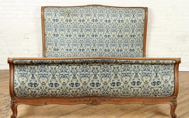 FRENCH SLEIGH FORM QUEEN SIZE BED CIRCA 1920