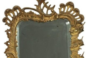 FRENCH STYLE BRONZE FRAME VANITY MIRROR C. 1900