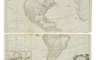 [GIBSON, JOHN.] A New Map of the Whole Continent of America,