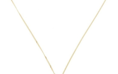 Gold necklace with diamonds
