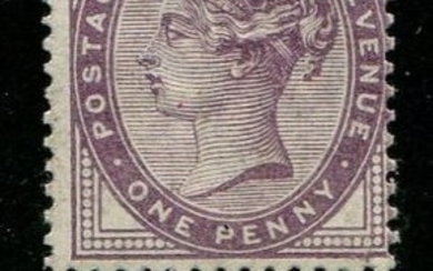 Great Britain 1881 - 1 pence lilac printed BOTH SIDES & WATERMARK INVERTED SG173aVar
