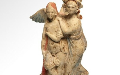 Greek Terracotta Eros and Psyche, Hellenistic Period