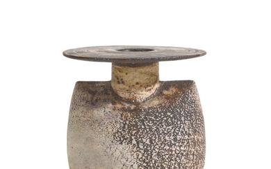 HANS COPER   SMALL 'SACK FORM' WITH FLARING DISC