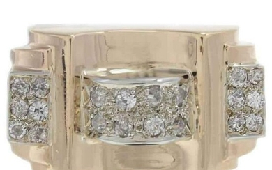 Handcrafted Diamond Yellow Gold Fashion Ring