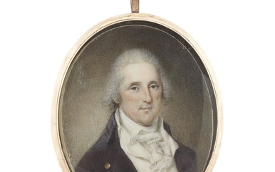 James Peale (1749-1831) Portrait miniature of a gentleman believed...