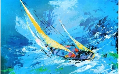 LEROY NEIMAN HAND SIGNED SAILING OFFSET LITHOGRAPH