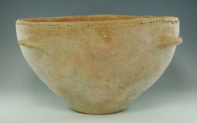 Large Prehistoric, Bronze Age TerracottaHoly Land Bowl - 130×225×0 mm