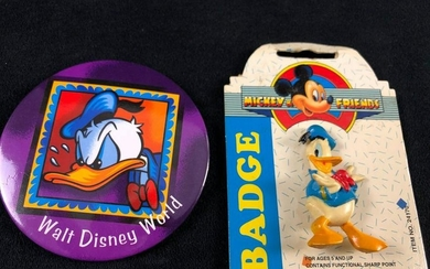 Lot of 2 Disney Donald Duck Vintage Collectible Trading