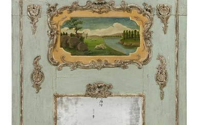 Louis XV Provincial-Style Trumeau Mirror