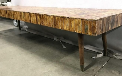 Low Mid Century Modern Tiled Coffee Table