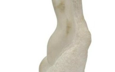MODERN ABSTRACT CARVED MARBLE SCULPTURE