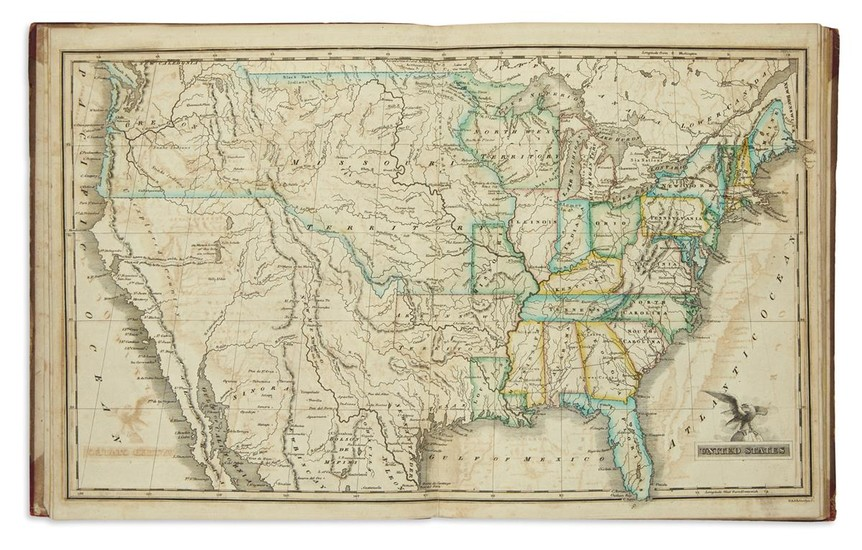 MORSE, SIDNEY E. An Atlas of the United States on an Improved Plan;