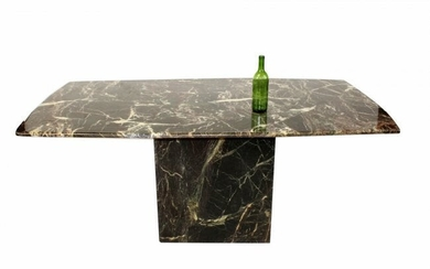 Mid Century marble pedestal base table