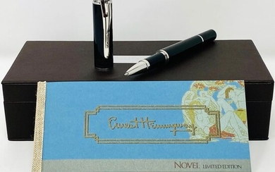 Montegrappa - Roller ball - Montegrappa Icons Hemingway Novels Limited Edition Rollerball Pen Black ISICHRIC