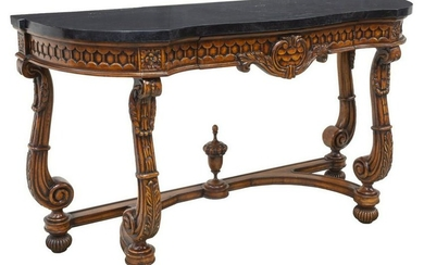 NEOCLASSICAL STYLE STONE TILED TOP CONSOLE TABLE