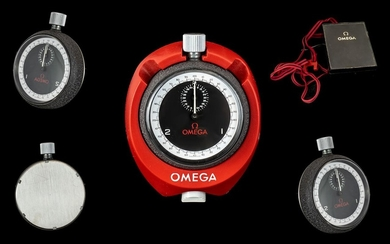 Omega 1970's Sports Stop Watch circa 1970's. Features black ...