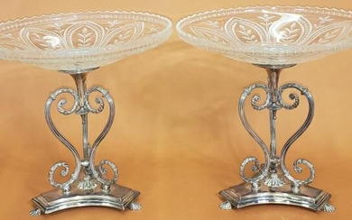 *PAIR OF VICTORIAN STYLE COMPOTES