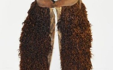 Pair of Antique Cowboy Wooly (Bison) Chaps