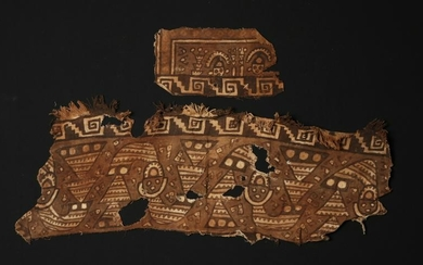 Pair of Peruvian Chancay Textile Fragments