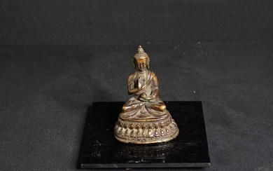 Sculpture - Bronze - Chinese charming statuette of the buddha - China - Qing Dynasty (1644-1911)