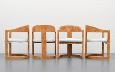 "Set of 4 Karl Springer ""Onassis"" Chairs"