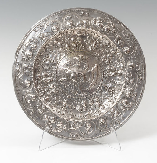 Silver tray. XIX century. Silver worked - Silver - Spain - Mid 19th century