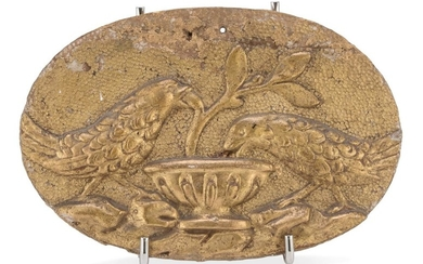 Small Oval Bas-relief In Giltwood - 19TH CENTURY