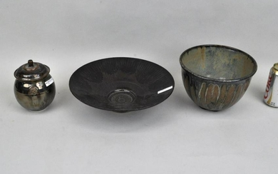 "Three Signed ""Liskin"" Modern Pottery Wares"