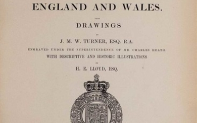 Turner (Joseph Mallord William). Picturesque Views in England and Wales from Drawings..., 1838