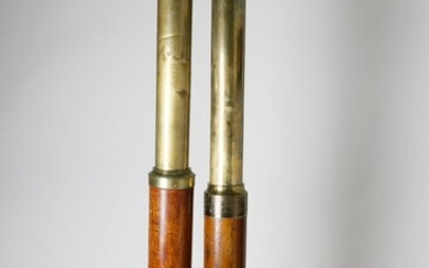 Two Signed Captain's Spyglasses, 19th Century