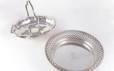 Two silver baskets