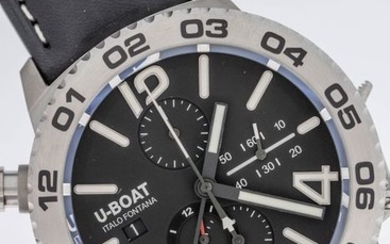 U-Boat - Doppiotempo Automatic GMT Chronograph Watch Stainless Steel - 9016 - Men - Brand New
