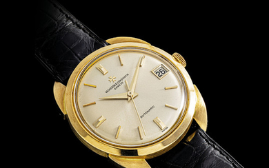 VACHERON CONSTANTIN. A FINE 18K GOLD AUTOMATIC WRISTWATCH WITH SWEEP CENTRE SECONDS AND DATE, SIGNED VACHERON CONSTANTIN, GENEVE, CHRONOMETRE ROYAL MODEL, REF. 6720, MOVEMENT NO. 554'180, CASE NO. 391'073, MANUFACTURED IN 1964