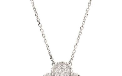 Van Cleef & Arpels - 18 kt. White gold - Necklace with pendant - 0.88 ct Diamond
