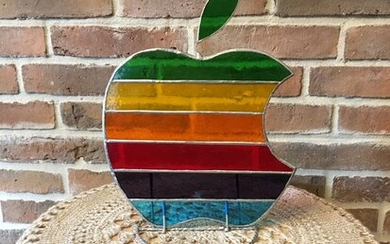 Very Rare stained glass work of art of Apple Computer - Glass (stained glass)