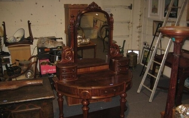 Victorian Mahogany Duchess Dressing Table (120cm wide x 174c...