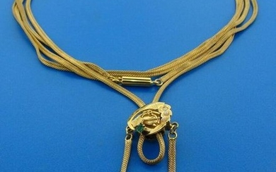 WOW Victorian Snake Chain Gold Plate with 10k Yellow