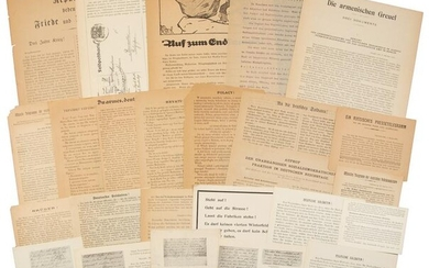 WWI-era propaganda pamphlets
