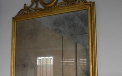 Wall mirror (1) - Empire Style - Gilt, Wood - Early 19th century