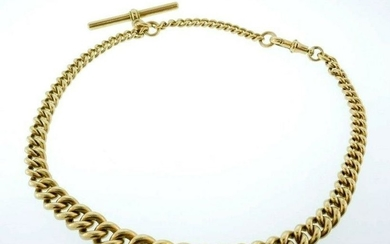 10k Yellow Gold Vintage Watch Chain