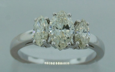 1.41 cts MARQUISE DIAMOND PLATINUM RING SIZE 6