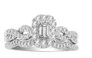 14kt Diamind Ring with FREE Band, 0.60Ct Total Weight