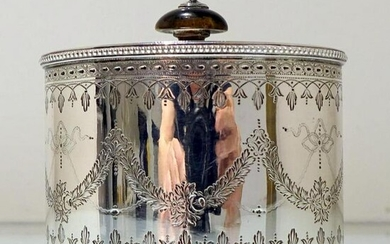 19th Century Antique Victorian Sterling Silver Tea