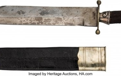 40268: Bowie Knife Marked J.D. Chevalier, New York.