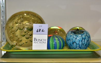 (5) Glass Paperweights