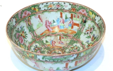A Chinese famille rose bowl, late 19th century, 28cm diameter...