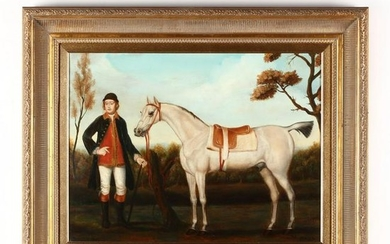 A Decorative Equestrian Painting in the Manner of