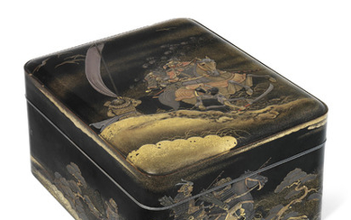 A FINE JAPANESE LACQUER TEBAKO (ACCESSORY BOX), SIGNED IN GOLD LACQUER TO THE BASE SHORYU (SHORYU SEGAWA) AND WITH KAKIHAN, MEIJI - TAISHO PERIOD (EARLY 20TH CENTURY)