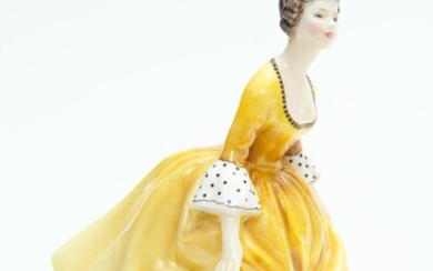 A ROYAL DOULTON FIGURE 'CORALINE', 19 CM HIGH, LEONARD JOEL LOCAL DELIVERY SIZE: SMALL