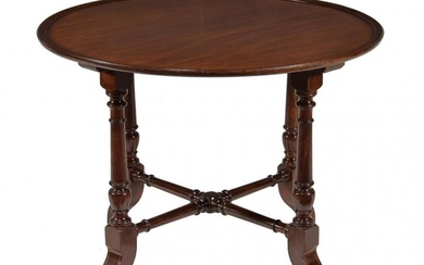 A Victorian mahogany circular centre table